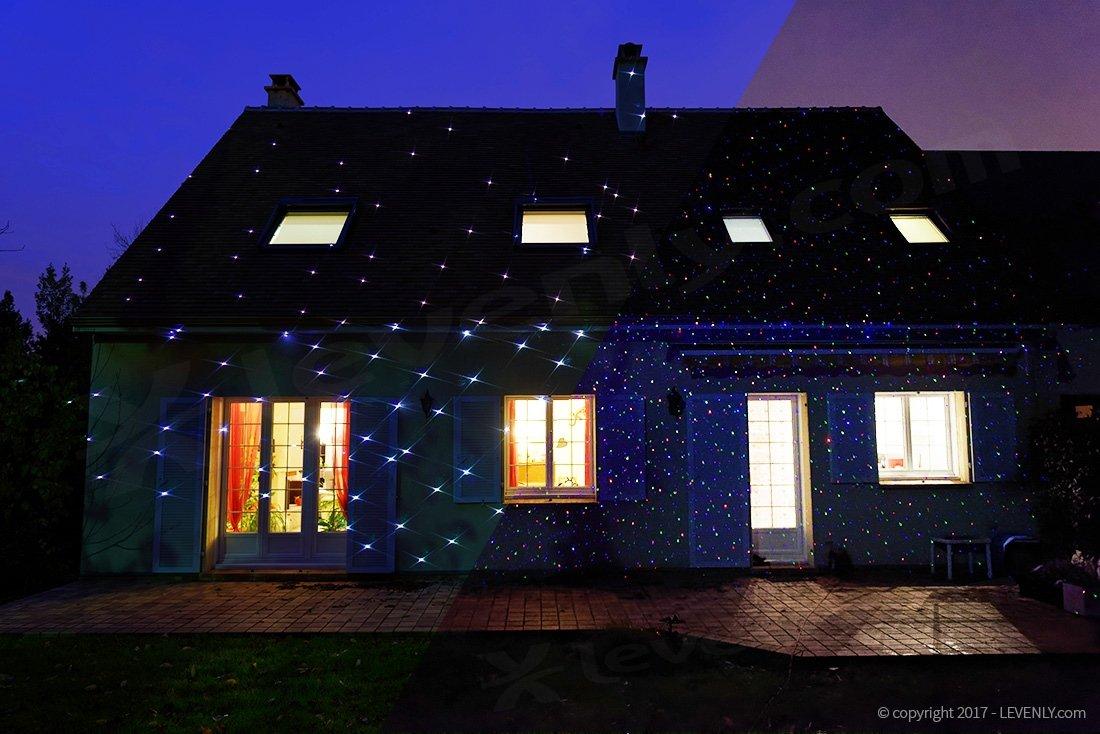 Projecteur laser ext rieur de no l pour fa ade projecteur laser de no l pour maison levenly for Spot de noel pour facade