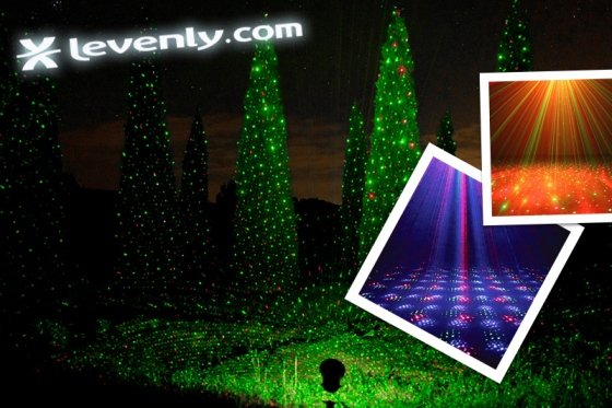 Projecteurs lasers de no l d corez votre maison jardin vitrine - Laser facade noel ...