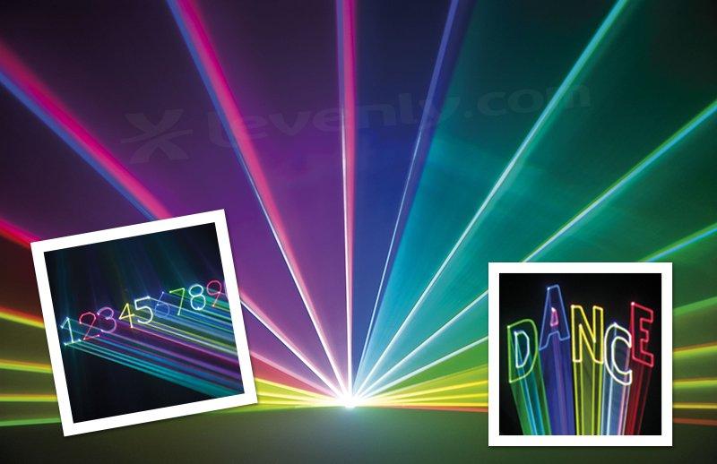 Laser écriture textes pour animations et showlaser