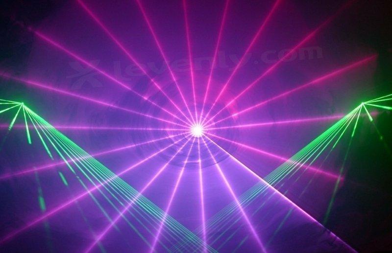 Effet laser avec machine à brouillard