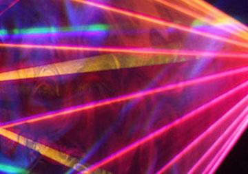 Show laser professionnel avec des lasers ILDA multicouleurs