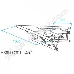 Acheter H30D-C001, ANGLE ALU 2 DIRECTIONS PROLYTE