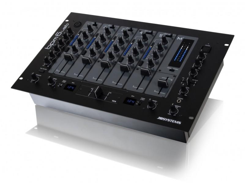 Jb Systems Bpm6 Usb Table De Mixage Usb 6 Canaux Rackable 19