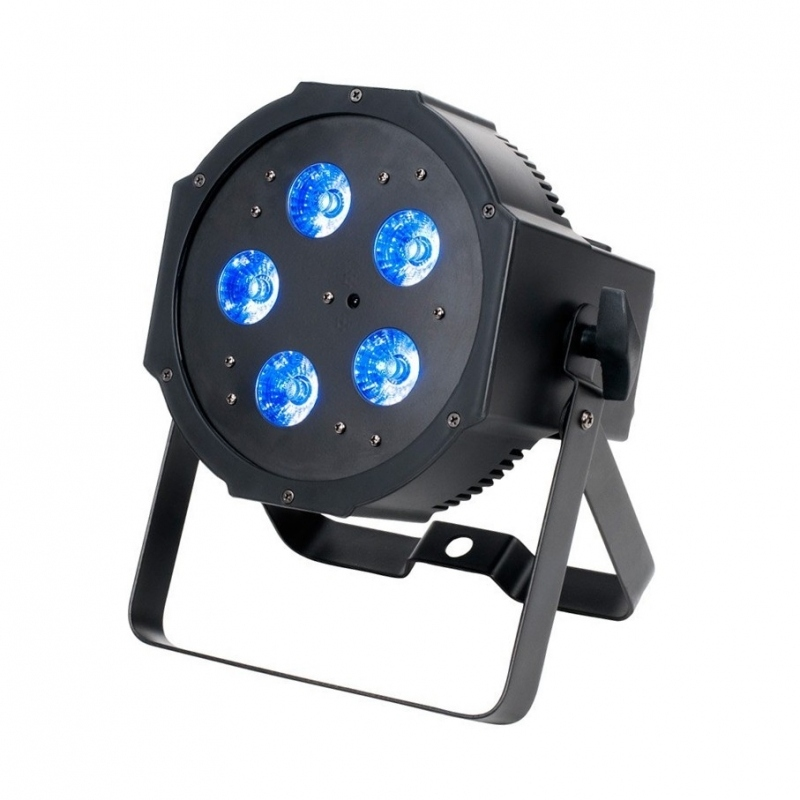 adj mega qplus go projecteur led flat 5 quad leds rgb et uv. Black Bedroom Furniture Sets. Home Design Ideas