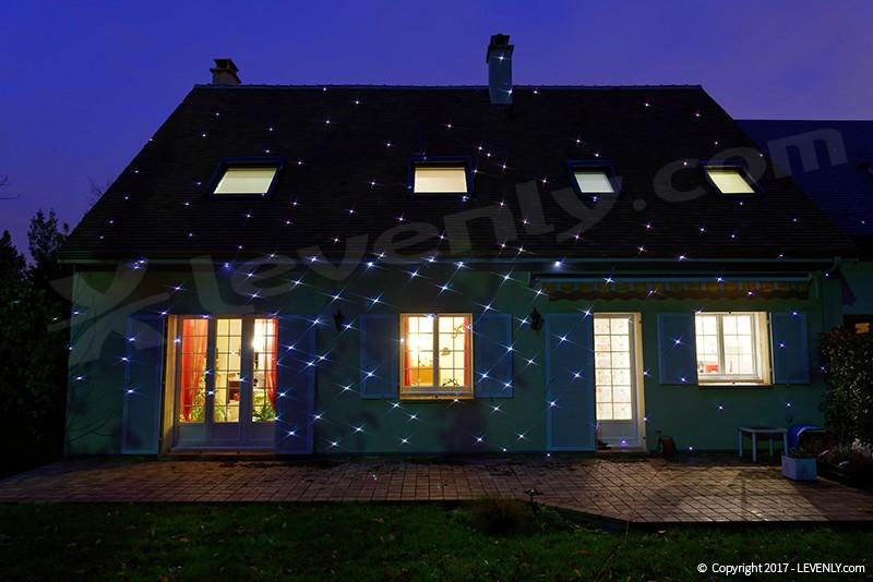 Jeu de lumière projecteur laser Blanc pour Noel