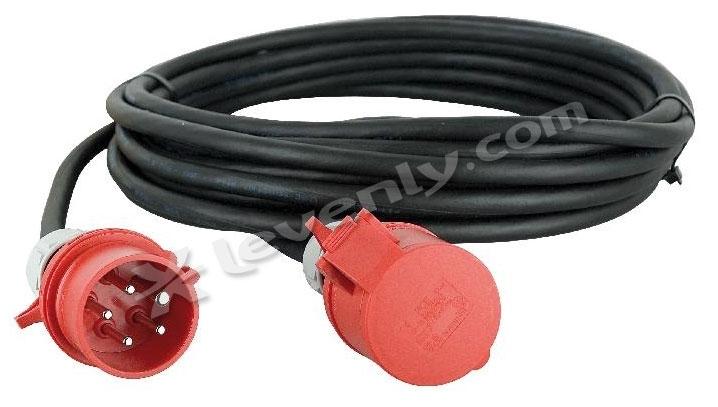 Showtec c ble 3x32a 380v 10m extension cable 3 x 32a 4mm2 long 10m - Cable electrique 4mm2 ...