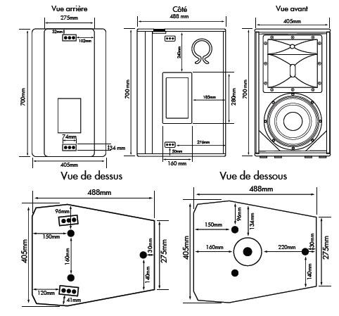 orphee cla1201d enceinte sono 3 voies 650w rms 8 ohms. Black Bedroom Furniture Sets. Home Design Ideas
