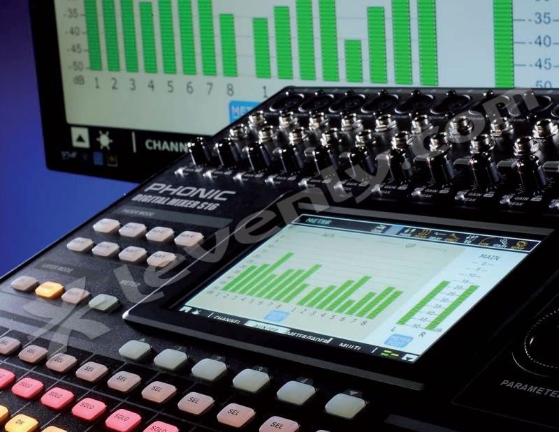 Phonic is16 console 16 entr es micro ligne insert - Console de mixage numerique ...
