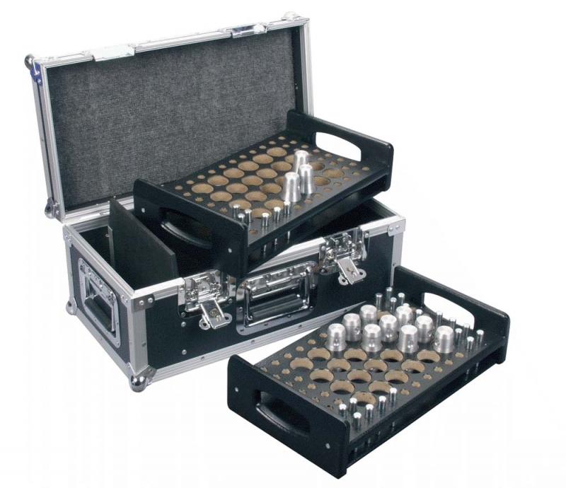 dap audio d7363b flight case de rangement pour manchons. Black Bedroom Furniture Sets. Home Design Ideas
