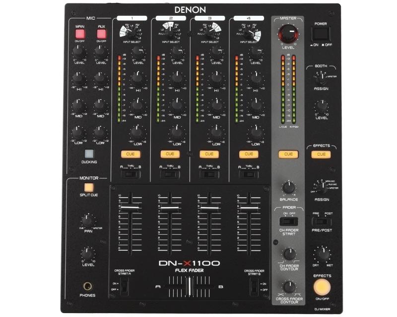 denon dj dn x1100 table de mixage 4 voies pro sp ciale dj. Black Bedroom Furniture Sets. Home Design Ideas