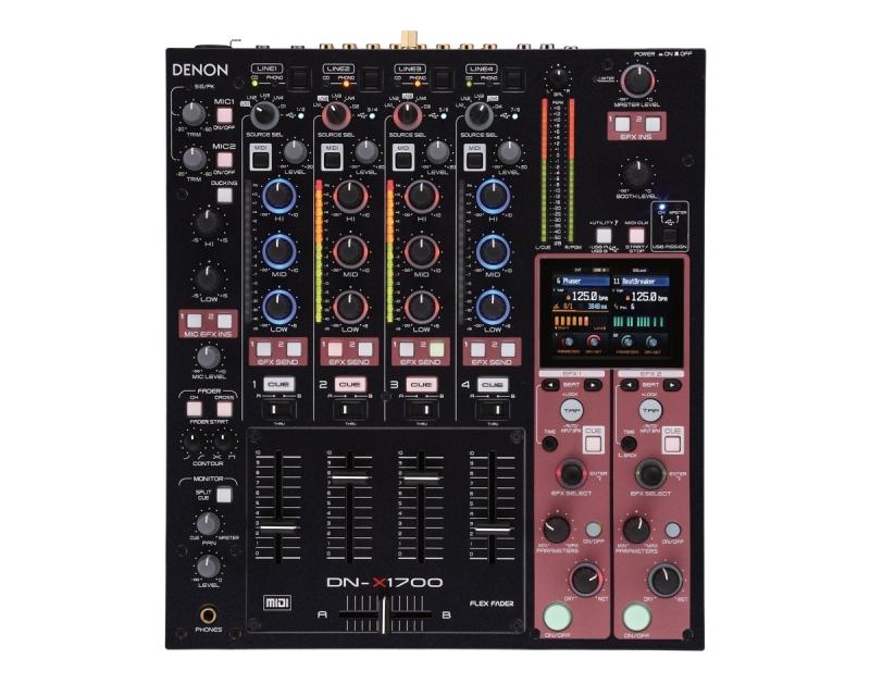 Denon dj dn x1700 table de mixage digital professionnel djs - Table de mixage professionnel ...