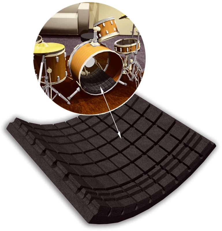 vicoustic flexikickdrum tapis absorbant pour grosse caisse. Black Bedroom Furniture Sets. Home Design Ideas
