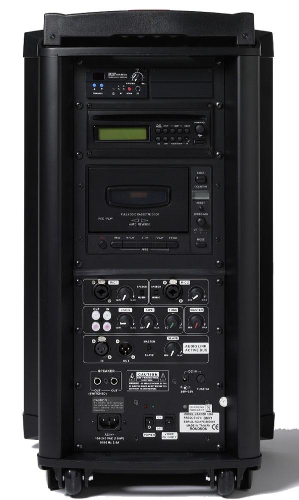 rondson leader1000 4 sonorisation portable autonome 120w rms. Black Bedroom Furniture Sets. Home Design Ideas