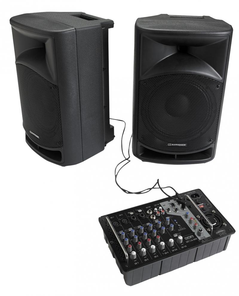 Audiophony mt10sys syst me 2 enceintes avec table de mixage - Branchement enceinte amplifiee table mixage ...