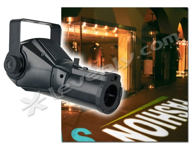 Projection de message publicitaire avec le IMAGESPOT 25W Showtec