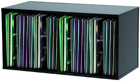 glorious dj record box 230 black double casier rangement. Black Bedroom Furniture Sets. Home Design Ideas