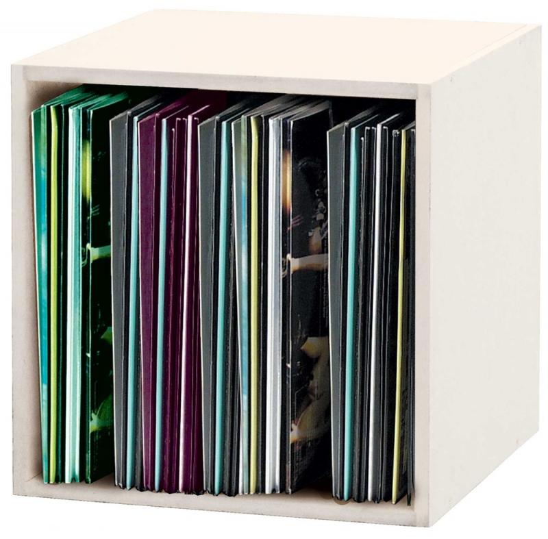 glorious dj record box 110 blanc casier rangement blanc 110 vinyles. Black Bedroom Furniture Sets. Home Design Ideas