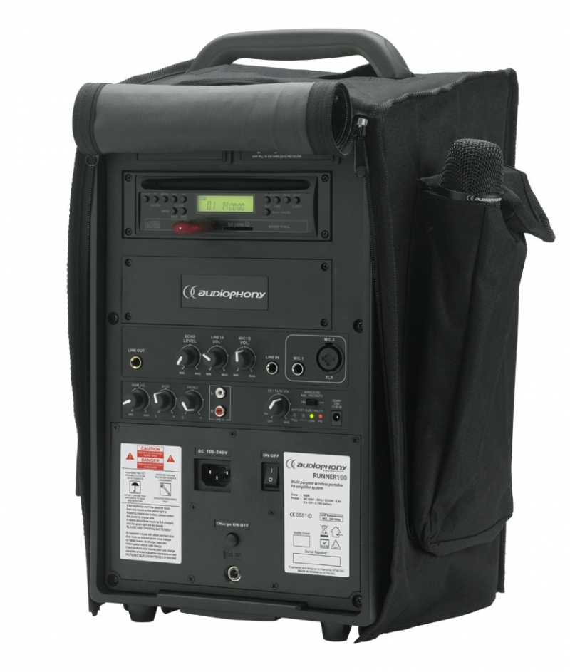 audiophony runner100 sonorisation autonome portable 100w. Black Bedroom Furniture Sets. Home Design Ideas