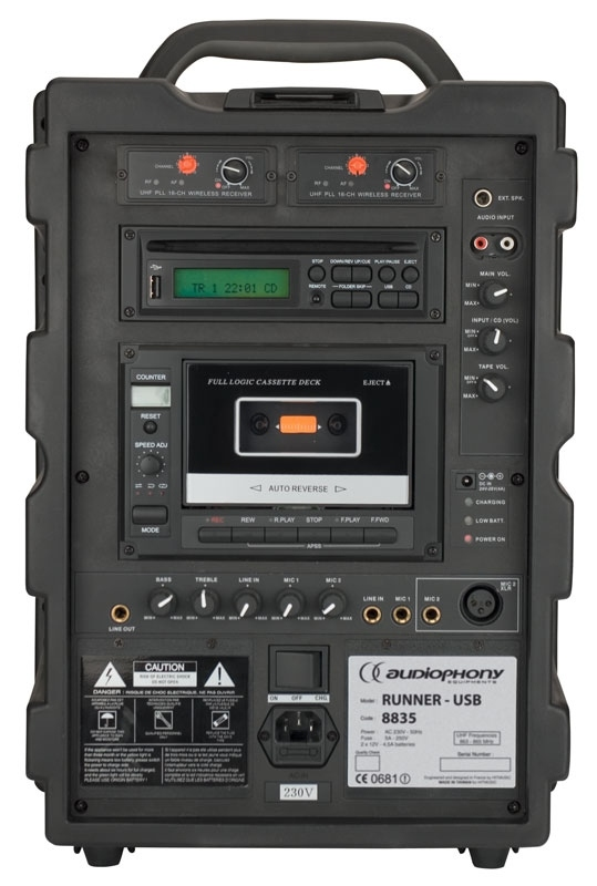 audiophony runner usb sonorisation portable autonome 75w rms. Black Bedroom Furniture Sets. Home Design Ideas