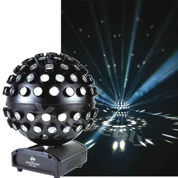 adj spherion white led jeu de lumi re effet boule facettes. Black Bedroom Furniture Sets. Home Design Ideas