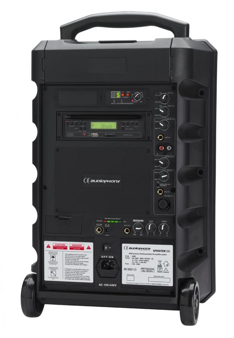 audiophony sprinter120 sonorisation autonome portable 120w rms. Black Bedroom Furniture Sets. Home Design Ideas