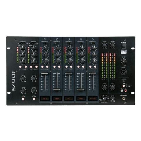 dap audio imix 7 2 usb table de mixage fixe 7 canaux 2 zones. Black Bedroom Furniture Sets. Home Design Ideas