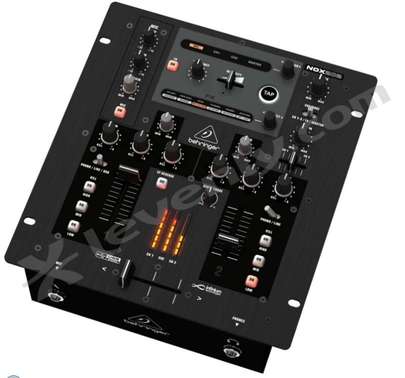 behringer nox202 table de mixage 2 canaux avec effets dj. Black Bedroom Furniture Sets. Home Design Ideas