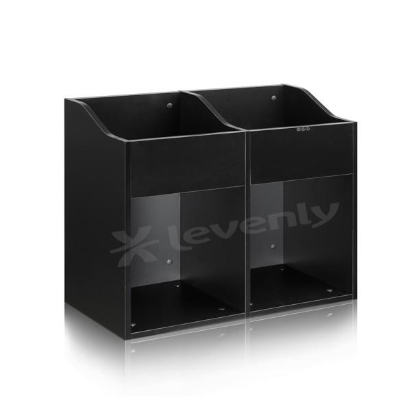 zomo vs box 200 2 noir meuble de rangement pour 400 480 vinyles. Black Bedroom Furniture Sets. Home Design Ideas
