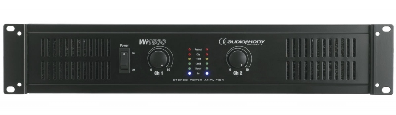 audiophony wi1500 ampli sono 2 x 500w rms 8 ohms bridgeable. Black Bedroom Furniture Sets. Home Design Ideas