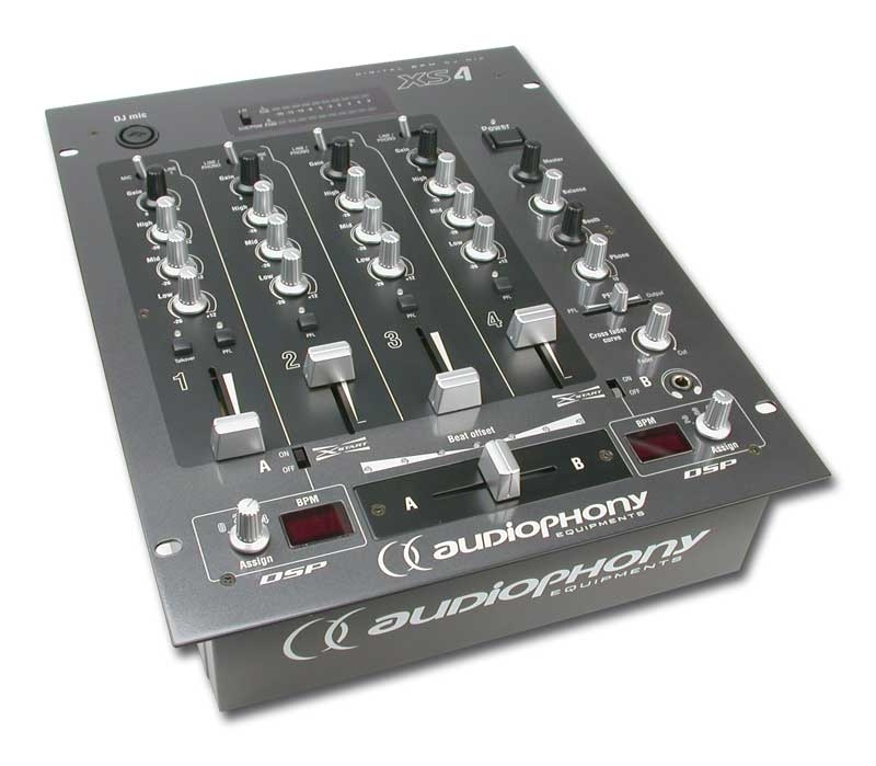 Audiophony xs4 table mixage dj for Table mixage