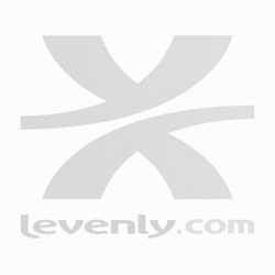 RACK-PRO 8U À ROULETTES, FLIGHTCASE NOIR BLACK CASE