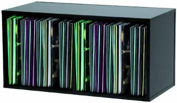 glorious dj record box 230 black double casier rangement 230 vinyles. Black Bedroom Furniture Sets. Home Design Ideas